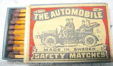 THE AUTOMOBILE - SAFETY MATCHES, MADE IN SWEDEN