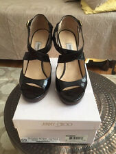 Jimmy Choo 39 Brown Leathe with Original Boxes, Packaging and Certificates