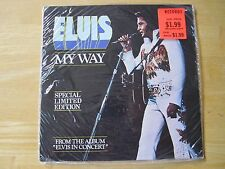 Elvis 45rpm record & Sleeve,  My Way/America, Limited Edition Red vinyl SEALED