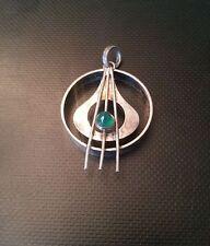 Anhänger alt Silber Handarbeit mit grünem Stein Silber 835er 6 g JK167