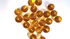 50 x 8mm Crystal Glass Round Beads - Golden Yellow - A3668