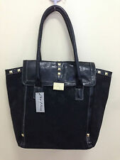 NWT XOXO DIZZY JACQUARD BLACK SIGNATURE LOGO SATCHEL TOTE BAG PURSE $79 SALE