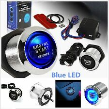 12V Car Engine Start Switch PIVOT Push Button Ignition Starter Kit LED Light