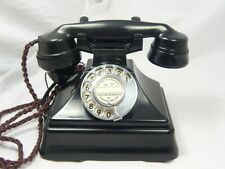 VINTAGE ART DECO BAKELITE TELEPHONE ON BELLBOX pyramid BELL SET retro ANTIQUE