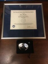 Marquis Who's Who Certificate for Lynn Brewer, Enron W/Glass Swarovski Diamond