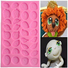 3D Assorted Cartoon Eyes Silicone Mold Cake Decorating Chocolate Mould