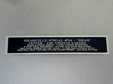Shaquille O'Neal Lakers Nameplate For A Basketball Display Case Or Photo 1.5 X 6