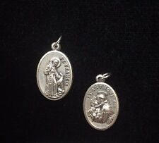 St. Francis And St. Anthony Medals Sliver tone 05747