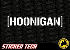 HOONIGAN KEN BLOCK HATER CAR WINDOW STICKER DECAL SUIT JDM DRIFT OR EURO
