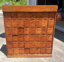 Antique Golden Oak General Store Countertop Seed Cabinet With 48 Drawers
