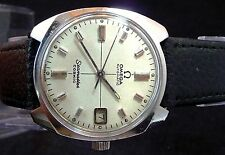 VINTAGE 1968 OMEGA AUTOMATIC Q-SET DATE SEAMASTER COSMIC STEEL WATCH SERVICE 565