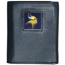 Siskiyou Gifts Minnesota Vikings trifold leather wallet
