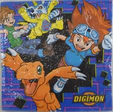 "NEW DIGIMON  16 PCS. Dessert Napkins,  12 3/4"" x 12 3/4"" ,Rare Party Napkins"