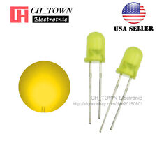 100pcs 5mm Diffused Self Yellow-Yellow Light Blink Blinking Flash LED Diodes USA