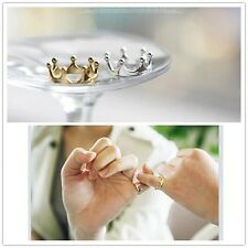 boyfriend girlfriend fashion Set 2pcs Gold and Silver Rings Crown