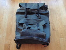 Vintage Swiss Military Waterproof Leather Rucksack Backpack Pack French Bag