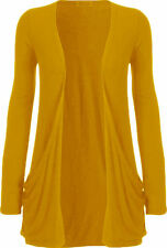 LADIES LONG SLEEVES BOYFRIEND CARDIGAN OPEN FRONT TOP SIZES AND COLORS AVAILABLE