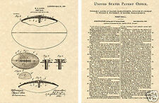 US PATENT of LEATHER FOOTBALL Art Print  READY TO FRAME!!!! foot ball NFL