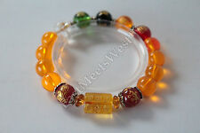 Lady's Feng Shui Consecrated Kai Guang Blessed Nature Crystal 5 Element Bracelet