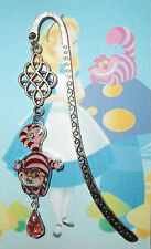 CHESHIRE CAT Silver Rhinestone Bookmark Book Mark Disney Alice In Wonderland