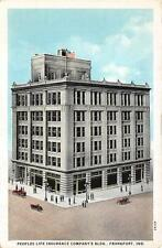 FRANKFORT, IN  Indiana   PEOPLES LIFE INSURANCE COMPANY BLDG   c1920's  Postcard