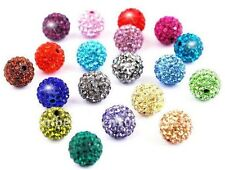 500pcs  8mm Rhinestone Beads disco ball clay Crystal Shamballa beads Mixed