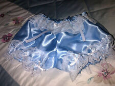 REDUCED Pretty Pale Blue Satin Short Bloomer Granny Panties for Men. Sissy CD TV