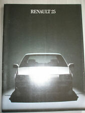 Renault 25 range brochure Jun 1984