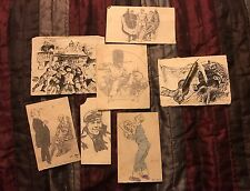 Antique WW1 Trench Art Sketches With Original Pencil Dated 1917 Its100 Years Old