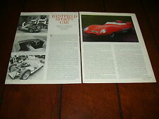 1983 WESTFIELD SPORTS CAR - LOTUS 11 ***ORIGINAL ARTICLE***