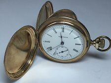 1897 Waltham GF Seaside 7J Pocket Watch 6S Mov't #8302232 Hunter Case (P81)