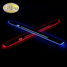 Sncn LED Moving Welcome Door Sill Scuff Plate for Volkswagen Scirocco 2014-2015