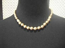 MONET Necklace NWT Champagne Faux Pearls Great Gift Free Ship