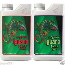 Advanced Nutrients Organic Iguana Juice Grow and Bloom 1 Litre Pack !!