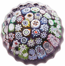 New boxed CAITHNESS GLASS Millefiori Purple Close Pack paperweight U14080