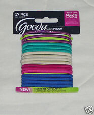 17 Goody StayPut Hair Ties Elastic Bands Ponytailer No Slip Grip Slide Proof