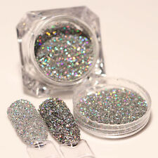 BORN PRETTY Nail Glitter Powder Laser Paillette Holo Silver Manicure Decoration