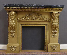 FIREPLACE  -  HANDCRAFTED - Marble - JIM COATES ~ Dollhouse Mini ~ 1:12 scale