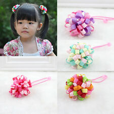 Baby Hair Tie Rope Girls Loopy Puffs Ribbon Cute Hair Holder Accessories ZU