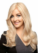 100% Real Hair! Light Gold Blonde Centre Parting Curls at Ends Long Wig