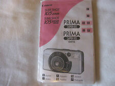 Canon Prima Super 105 35mm Film Camera Instruction Book E F G S I P  C2-24