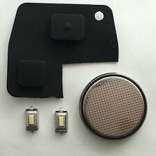 Toyota Rav 4 Yaris MR2 Corolla Avensis 2 Button Remote Key Fob Case Repair Kit