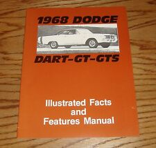 dodge dart manual 1968 dodge dart gt gts illustrated facts features manual 68