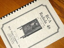RCA VICTOR Antique Radio RADIOLA 48 Owners Service MANUAL 1931