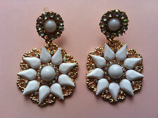 NEU OHRRING OHRRINGE BLUME FLOWER FLEUR STERN STAR EARRING EARRINGS CHANDELIERS