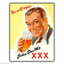 METAL SIGN WALL PLAQUE JOHN SMITH'S XXX BEER Vintage Retro poster Advert Kitchen
