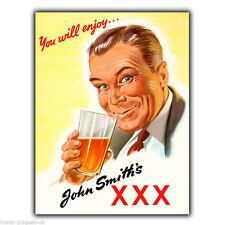 Placa De Pared Letrero de metal cerveza John Smith's Xxx Cartel Anuncio De Cocina Retro Vintage