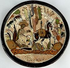 Vintage Mexico Redware Pottery Tlaquepaque Jalisco Mexico Art Small Plate