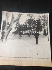 71-2 Ephemera 1969 Picture Footprints In The Snow North down Park Margate