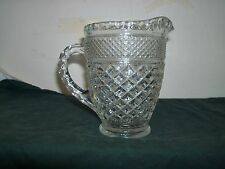 Vintage Anchor Hocking Wexford Clear Glass 16 Ounce Water Juice Milk Pitcher EUC